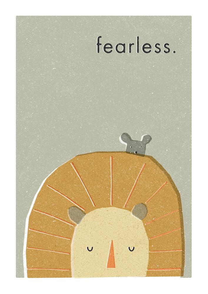FEARLESS - Greeting Card - Freya Art & Design