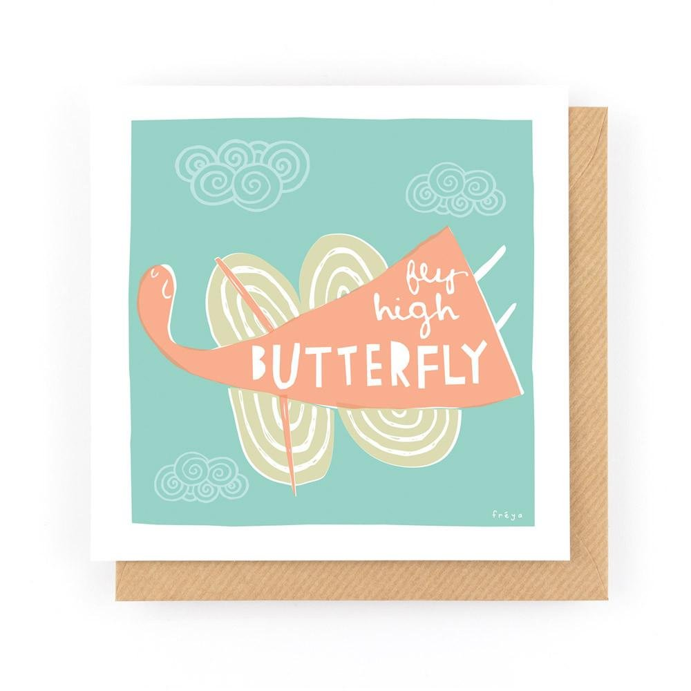 FLY HIGH BUTTERFLY - Greeting Card - Freya Art & Design