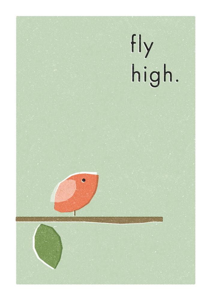 FLY HIGH - Greeting Card - Freya Art & Design