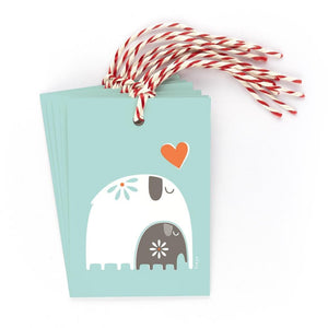 FOLKLORE ELEPHANT - Gift Tags - Freya Art & Design