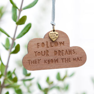 FOLLOW YOUR DREAMS - Bronze Charm - Freya Art & Design