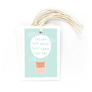 FOLLOW YOUR DREAMS - Gift Tags - Freya Art & Design