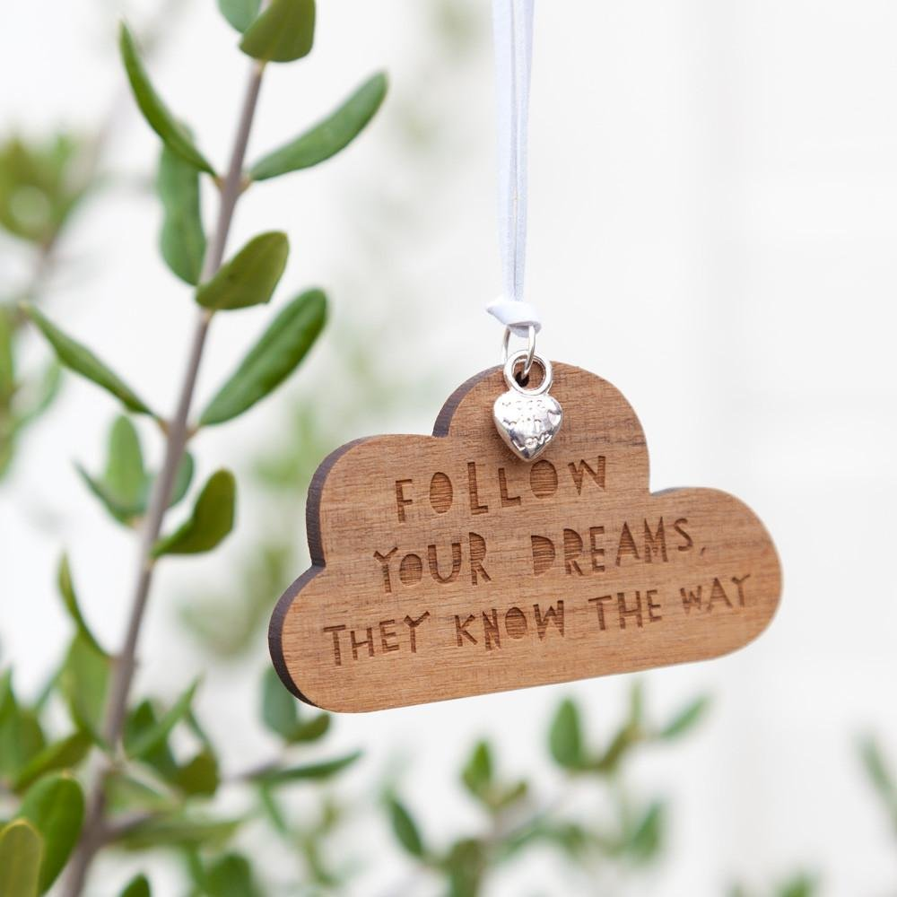 FOLLOW YOUR DREAMS - Silver Charm - Freya Art & Design