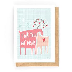 FOR YOU MY DEAR - Mini Gift Card - Freya Art & Design