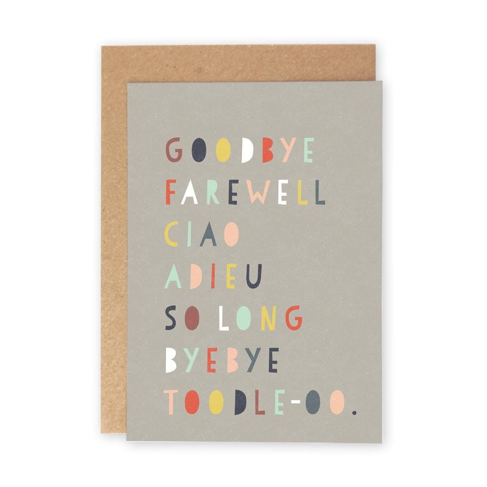 GOODBYE FAREWELL CIAO - Greeting Card - Freya Art & Design