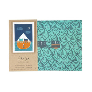 GREEN SEA - Gift Wrap Set - Freya Art & Design