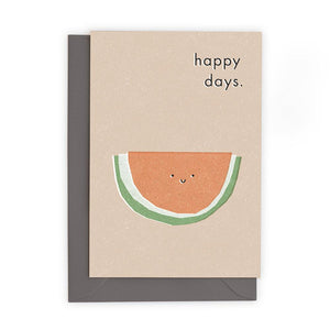 HAPPY DAYS - Greeting Card - Freya Art & Design