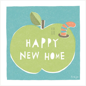 HAPPY NEW HOME (APPLE) - Greeting Card - Freya Art & Design