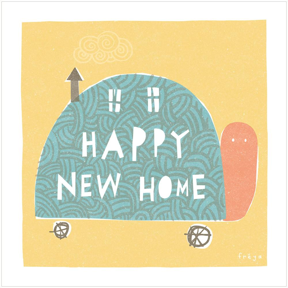 HAPPY NEW HOME (TURTLE) - Greeting Card - Freya Art & Design
