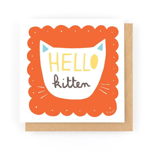 HELLO KITTEN - Greeting Card - Freya Art & Design
