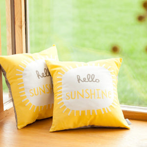 HELLO SUNSHINE - Cushion - Freya Art & Design