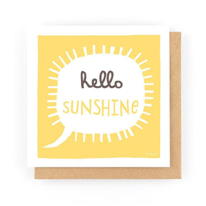 HELLO SUNSHINE - Greeting Card - Freya Art & Design