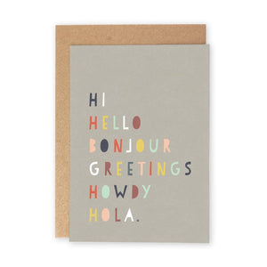 HI HELLO BONJOUR - Greeting Card Pack - Freya Art & Design