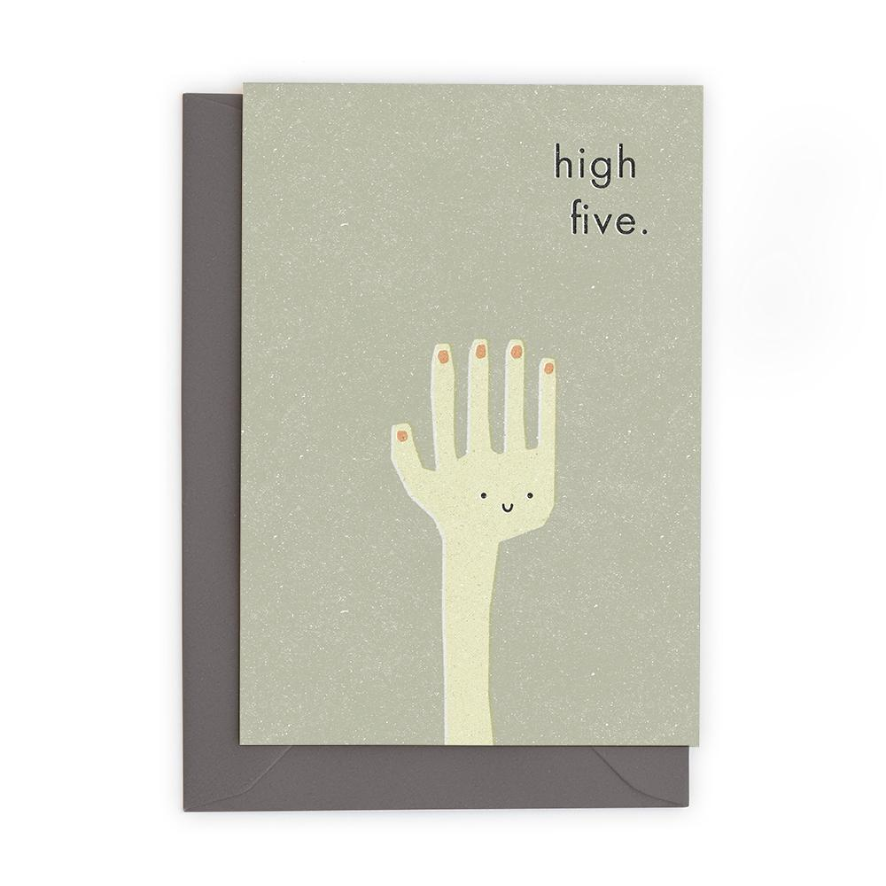 HIGH FIVE - Greeting Card - Freya Art & Design