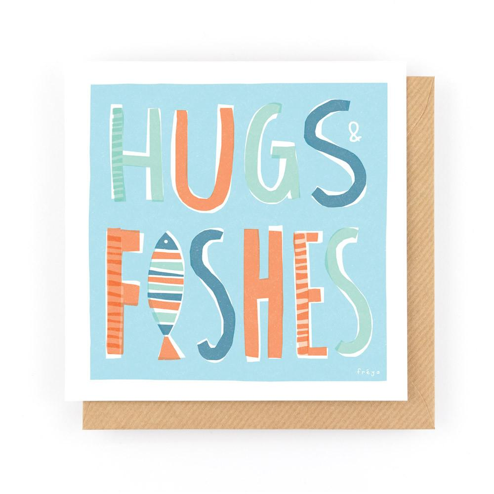 HUGS & FISHES - Greeting Card - Freya Art & Design
