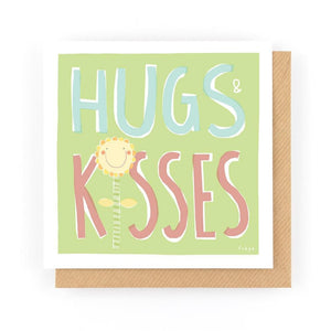 HUGS & KISSES - Greeting Card - Freya Art & Design