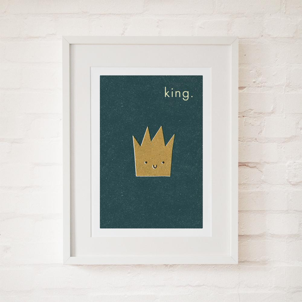 KING - Fine Art Print - Freya Art & Design
