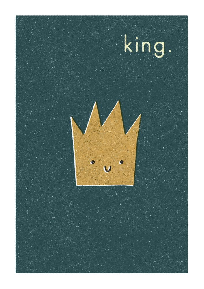 KING - Greeting Card - Freya Art & Design