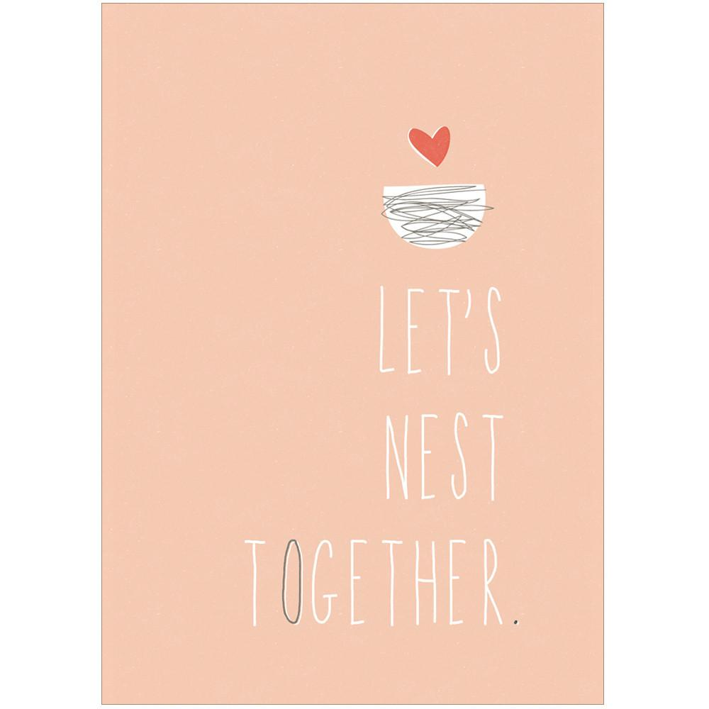 LET'S NEST TOGETHER - Greeting Card - Freya Art & Design