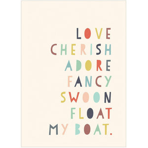 LOVE CHERISH ADORE - Greeting Card - Freya Art & Design