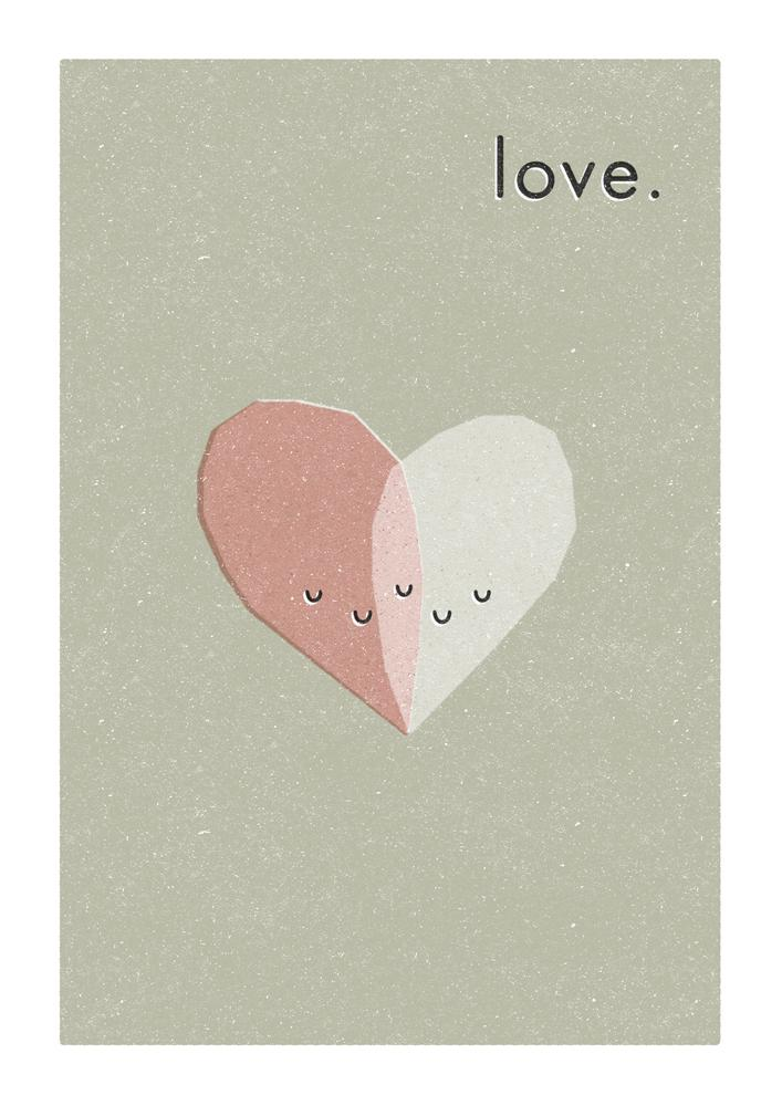 LOVE HEART - Greeting Card - Freya Art & Design