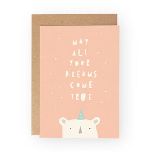 MAY ALL YOUR DREAMS COME TRUE - Greeting Card - Freya Art & Design