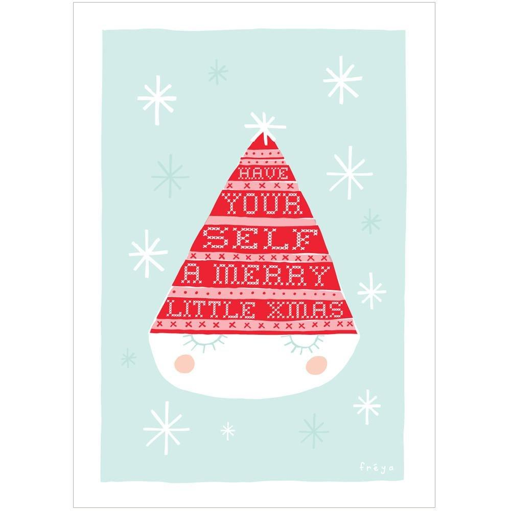 MERRY LITTLE XMAS - Mini Gift Card - Freya Art & Design