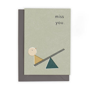 MISS YOU - Greeting Card - Freya Art & Design