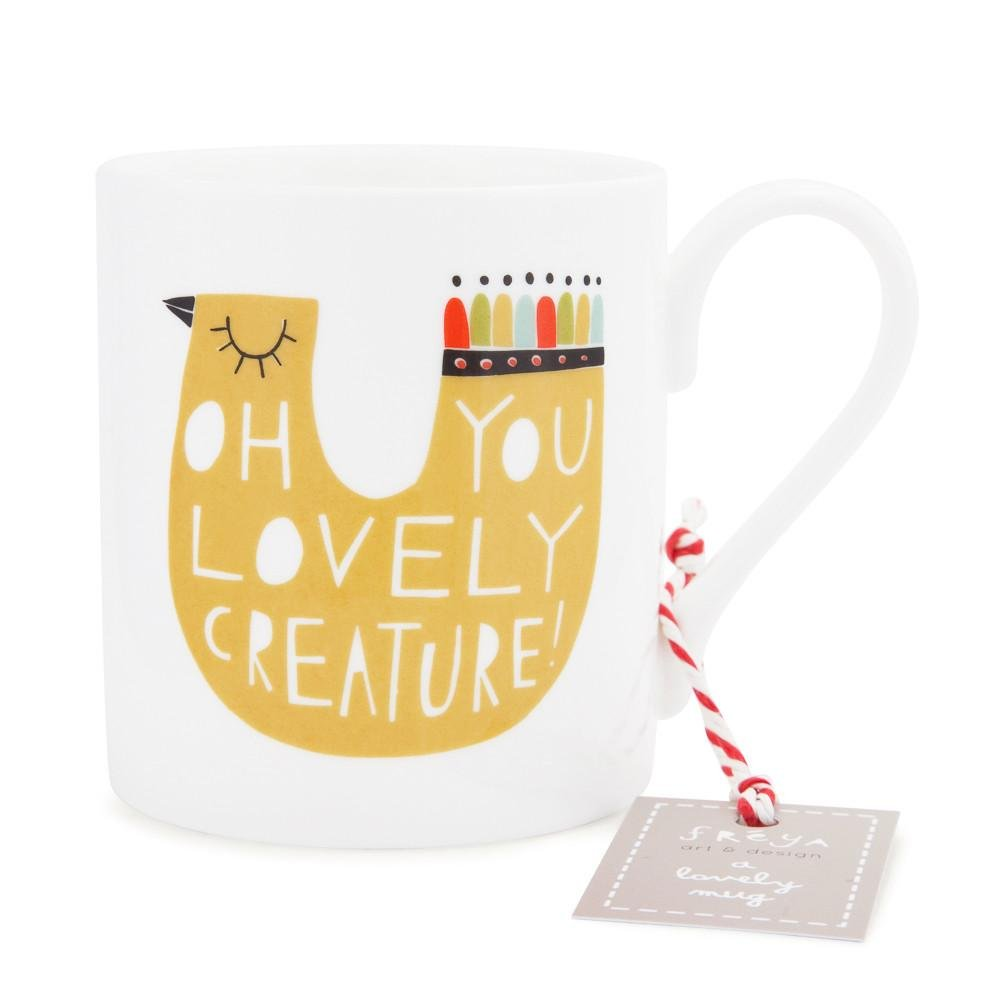 OH YOU LOVELY CREATURE! - Mug - Freya Art & Design