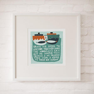 OUR HARBOUR - Fine Art Print - Freya Art & Design