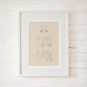 OUR TRIBE - Fine Art Print - Freya Art & Design