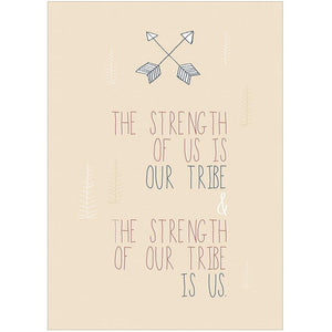 OUR TRIBE - Greeting Card - Freya Art & Design