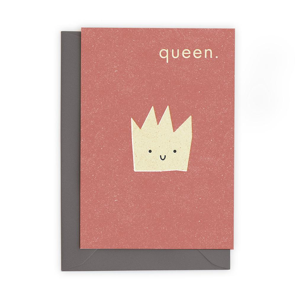 QUEEN - Greeting Card - Freya Art & Design