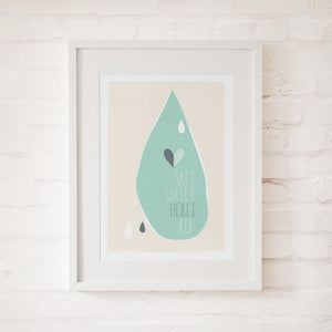 SALT WATER HEALS ALL - Fine Art Print - Freya Art & Design