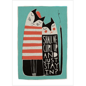 SHALL WE CURL UP? - Fine Art Print - Freya Art & Design