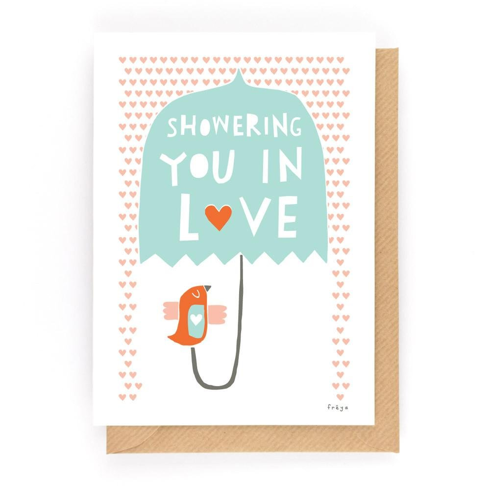 SHOWERING YOU IN LOVE - Greeting Card - Freya Art & Design