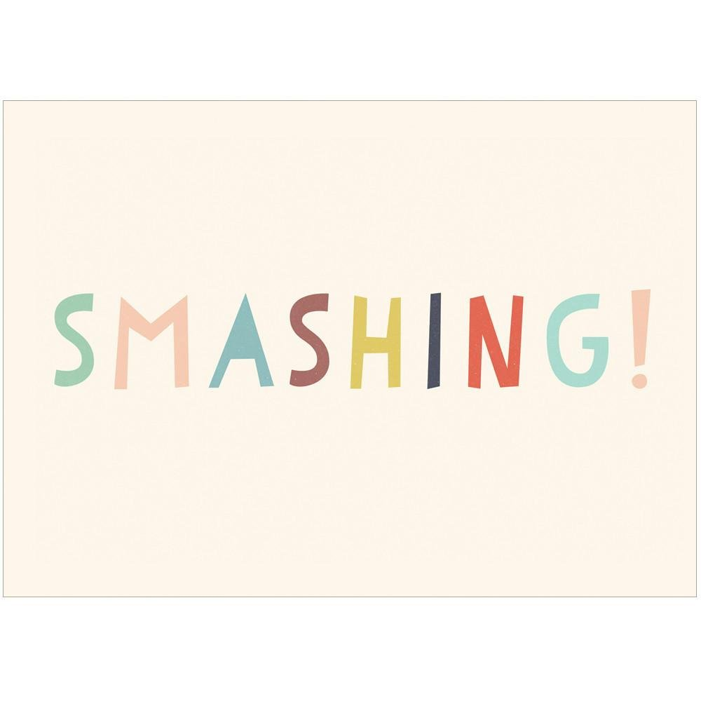 SMASHING - Greeting Card - Freya Art & Design