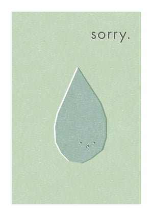 SORRY - Greeting Card - Freya Art & Design