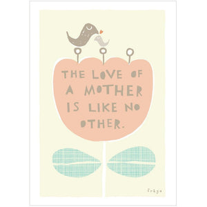 THE LOVE OF A MOTHER - Greeting Card - Freya Art & Design