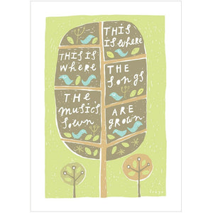 THE MUSIC & THE SONGS - Fine Art Print - Freya Art & Design