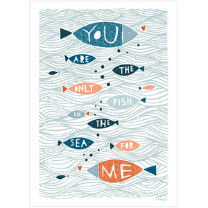 THE ONLY FISH IN THE SEA - Fine Art Print - Freya Art & Design