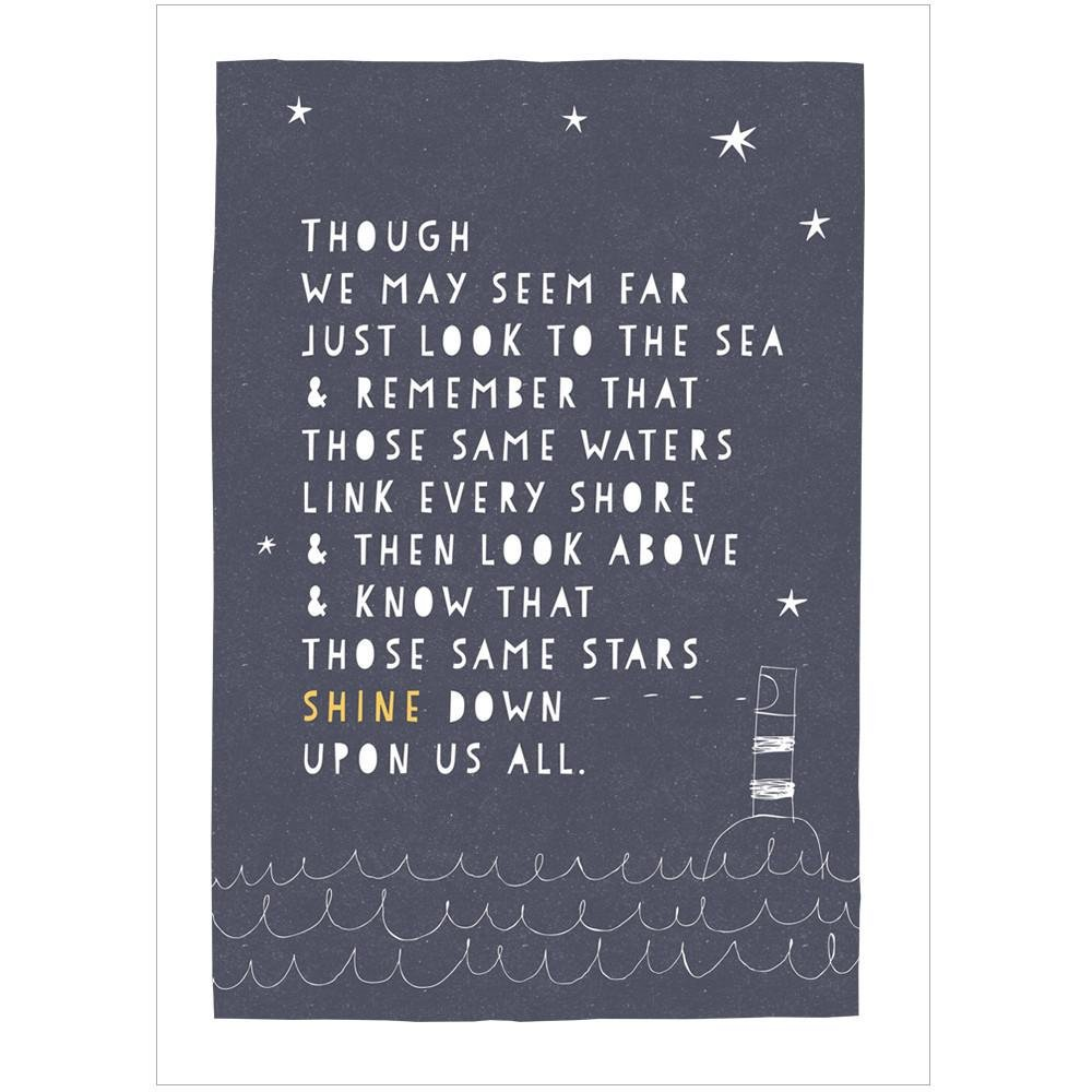 THE SEA AND THE STARS - Fine Art Print - Freya Art & Design