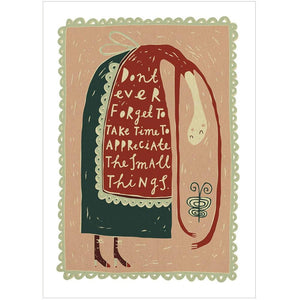 THE SMALL THINGS - Greeting Card - Freya Art & Design