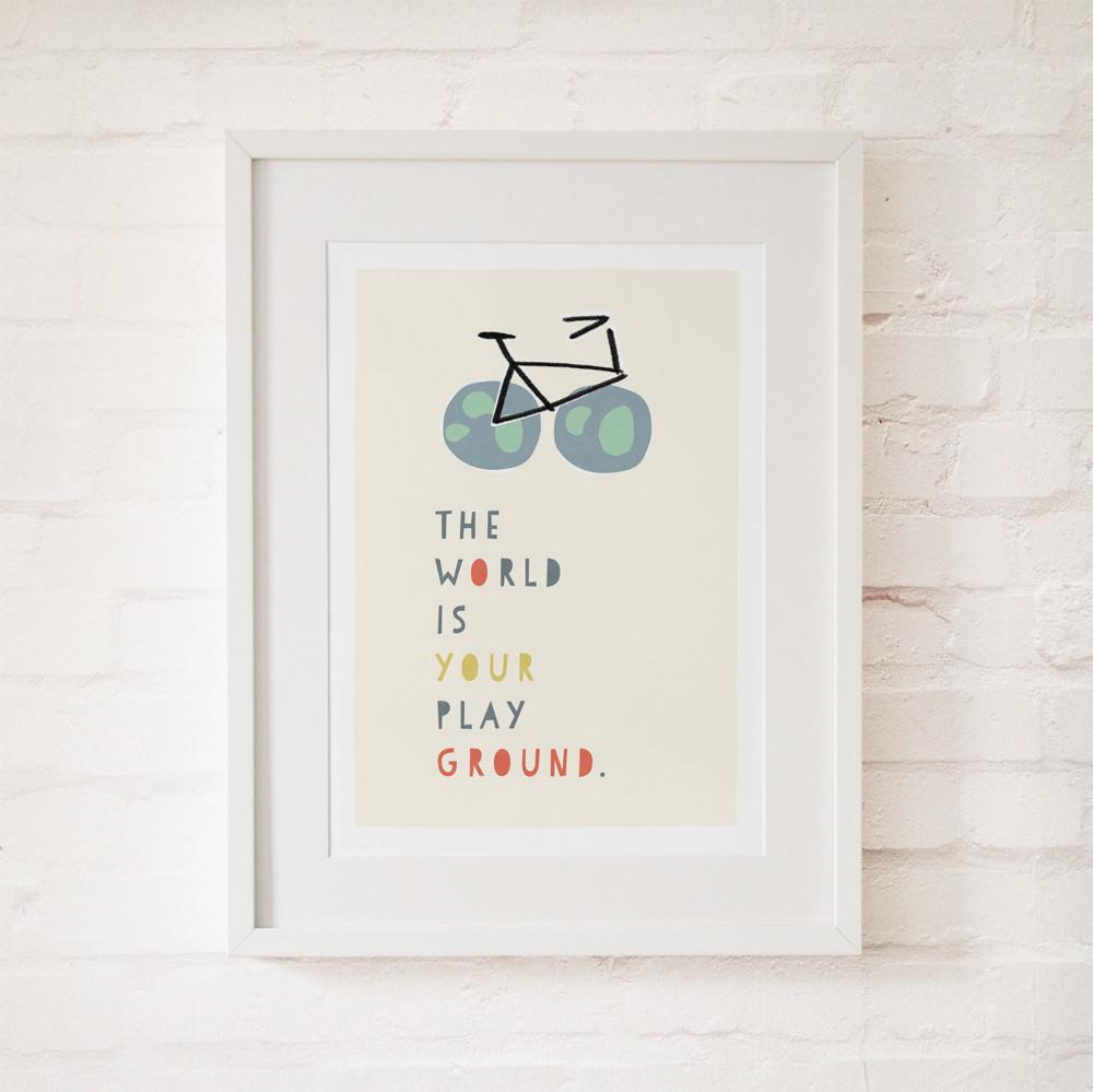 THE WORLD IS YOUR PLAYGROUND - Fine Art Print - Freya Art & Design