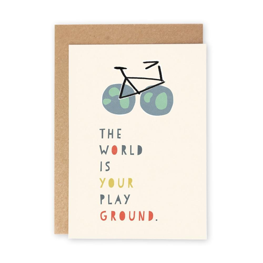 THE WORLD IS YOUR PLAYGROUND - Greeting Card - Freya Art & Design