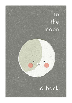 TO THE MOON & BACK - Greeting Card - Freya Art & Design