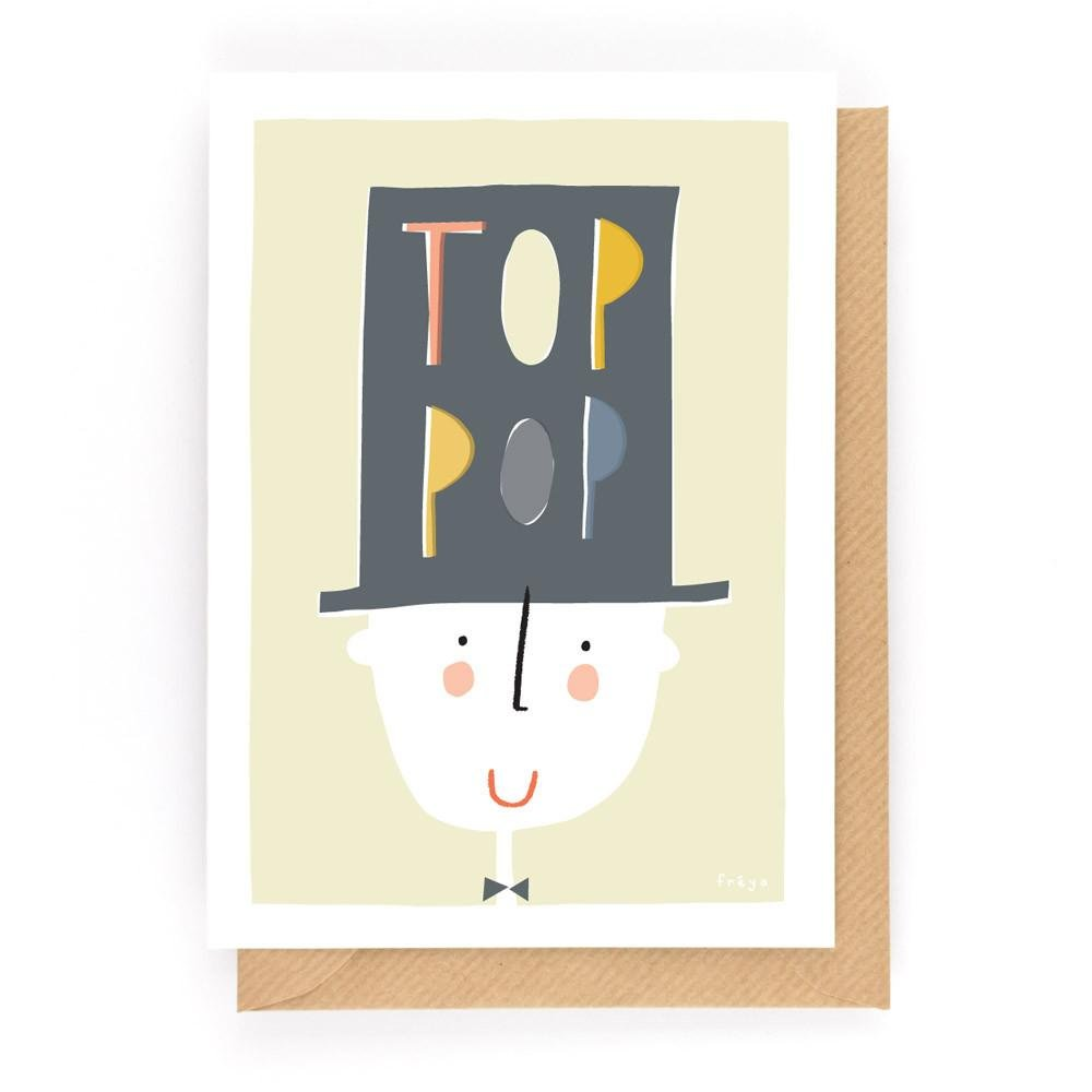 TOP POP - Greeting Card - Freya Art & Design