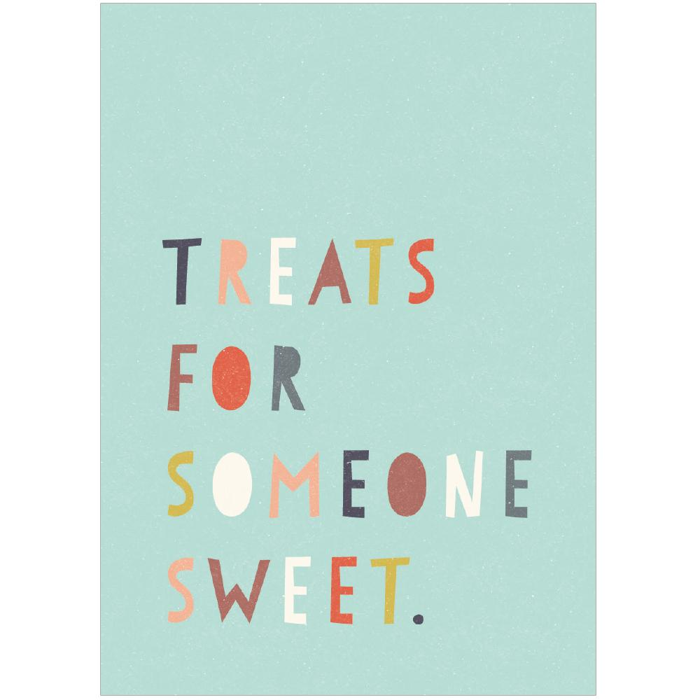TREATS FOR SOMEONE SWEET - Mini Gift Card - Freya Art & Design