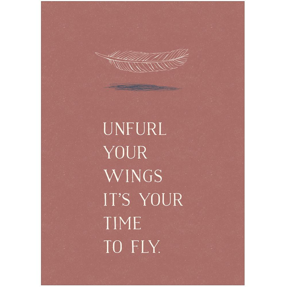 UNFURL YOUR WINGS - Greeting Card - Freya Art & Design