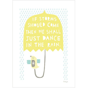 WE SHALL DANCE IN THE RAIN - Greeting Card - Freya Art & Design
